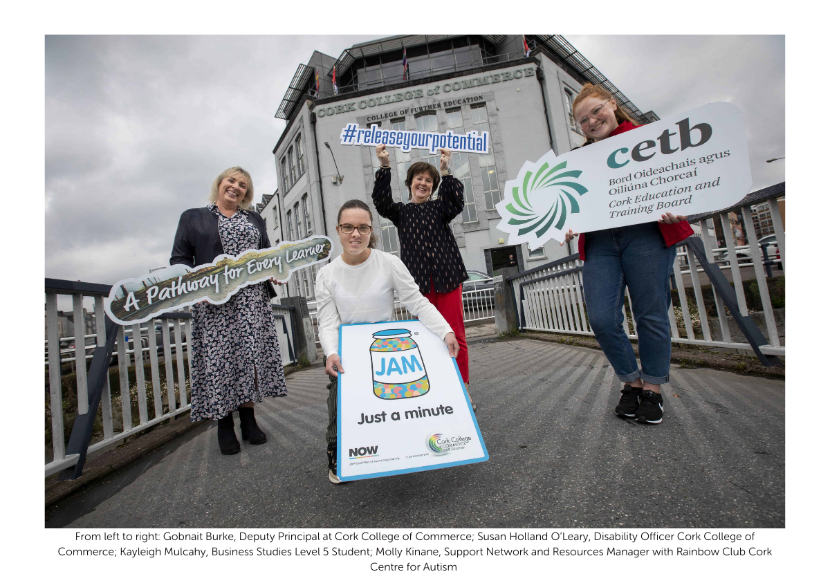 JAM Card in Republic of Ireland: Cork College of Commerce demonstrates further commitment to inclusion